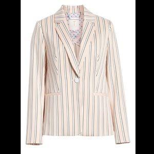 Ted Baker Striped Betiia Blazer in Light Pink